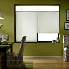 First Rate Blinds In Cool White 69 to 69.5-inches Wide Cordless Top Down Bottom