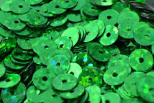 4/6mm Green Sparkle Flat Sequins Sheen Round Sequins/Loose Paillettes