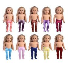 18 Inch Dolls Stripes Leggings Pants for 18'' American Girl Clothes Accessories