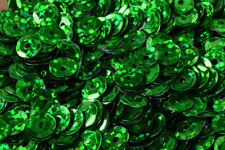 3/4/6mm Green Cup Glossy Shiny Sequins Sheen Round Sequins