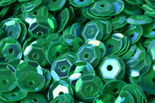 3/4/6mm Bright Green Cup Iridescent Sequins Sheen Round Sequins