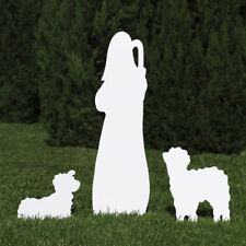 Outdoor Nativity Store Outdoor Nativity Set Add-on - Shepherd and Sheep (White)