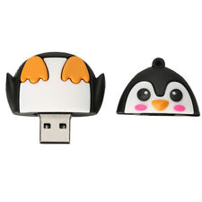 USB 2.0 Memory Stick Flash Pen Drive 3D Cartoon Penguin Shape 16GB-256GB