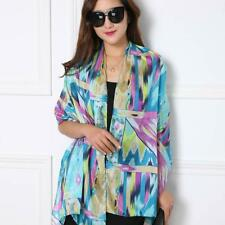 New Ladies Fashion Scarves And Shawl Bright Print Designs Soft Chiffon Polyester