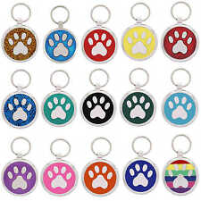 Pet Tag Dog Tags Custom Engraved ID Paw Print Pet Tags Collar Charms Cat Tag