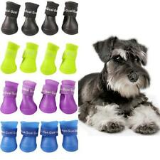 Dog Shoes Puppy Candy Colors Rubber Boots 4PCS/set Waterproof Pets Rain Shoe New