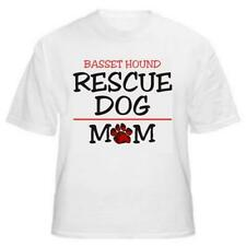 Basset Hound Rescue Mom Dog Lover T-Shirt - Sizes Small through 5XL