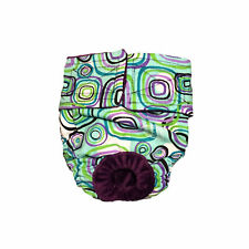 Dog Diapers - Made in USA - Swirly Square Washable Dog Diaper Dog Nappies for...