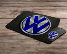 Volkswagen logo emblem wireless computer optical mouse + mousepad mouse pad