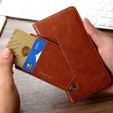 Detachable Wallet Case Card Slot Magnetic Flip Leather Cover For iPhone Samsung