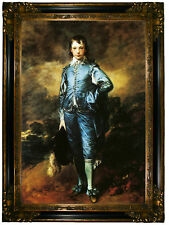 Gainsborough The Blue Boy Wood Framed Canvas Print Repro 19x28