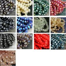 FACETED RONDELLE CRYSTAL GLASS beads 10x8mm 13 colours 72 beads