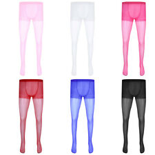 Sexy Sissy Men's Full Length Sheer Pantyhose Tights Exotic Underwear Stockings