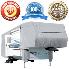 4-Layer 5th Wheel Covers Travel Trailer RV Motorhome Camper Storage Cover Fabric