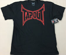 UFC TAPOUT Classic Black & Red  T-Shirt NEW WITH Tags Adult Sizes