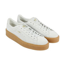 Puma Mens Fenty by Rihanna White Suede Creepers 36217803 Sneakers Shoes