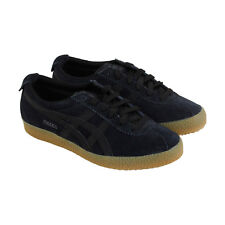 Onitsuka Tiger Mexico Delegation Mens Black Suede Sneakers Lace Up Shoes