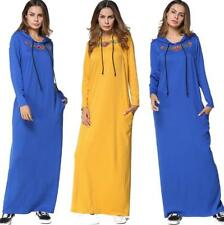 Women Fashion Hooded Long dresses Lady Party Cocktail dresses Lady Casual Maxi
