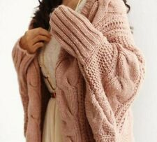 Knitted Sweaters Open Cardigans For Women Bat Wing Long Sleeve Crochet Pullovers