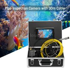 """NEW Sewer Fishing Finder Inspection System Snake Camera 7"""" LCD Monitor 30/20m"""