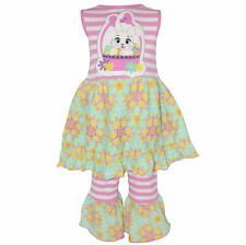AnnLoren Girls Boutique Easter Dress and Capri Outfit sz 12/18 mo-11/12yrs