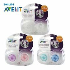 AVENT 2Pcs Baby Infant Pacifier Transparent Baby Pacifiers BPA Free