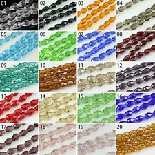 72pcs Transparent Synthetic Crystal Gemstone Drip Shape Faceted Loose Beads