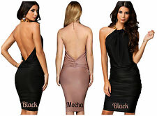 BNWT HONOR GOLD Backless New £75 Club Party Bandage Bodycon Prom Chain Dress