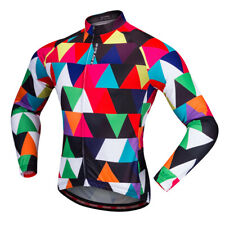 Unisex Cycling Jersey Bike Jersey Spring Autumn Clothing Multicolor