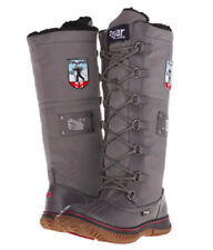 Womens PAJAR CANADA GRIP ZIP Charcoal LEATHER LACE UP WINTER SNOW BOOTS 6-10 NEW