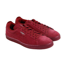 Puma Suede Classic Anodized Mens Red Suede Lace Up Trainers Shoes