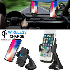 Qi Wireless Car Charger Air Vent Holder Mount For For Samsung Note 8 iPhone 8 X