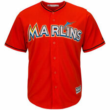 Miami Marlins Majestic Youth Official Cool Base Team Jersey Baseball - Orange