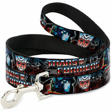 Dog Leash - TRANSFORMERS Autobot Logo Optimus Prime Poses Black Blue-Red Fade