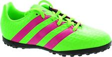 adidas Kids Boys Junior 16.4 Ace Football Astro Turf Boots Trainers Green Pink
