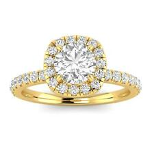 1.00ctw Diamond Halo Engagement Ring in 14k  Yellow Gold