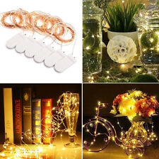 UK 6X2M 20LED MICRO WIRE STRING FAIRY PARTY XMAS WEDDING CHRISTMAS LIGHT Battery
