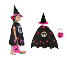 Adult Kids Girls Halloween Party Witch Costume Set Cosplay Fancy Dress