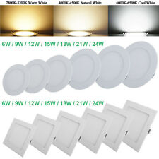 LED Dimmable Recessed Ceiling Panel Light Lamp Flat Downlight Fixture Wholesale!