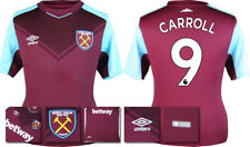 17 / 18 - ADIDAS ; WEST HAM HOME SHIRT SS / CARROLL 9 = KIDS