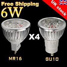 10 x GU10 MR16 LED Lamps 6W High Power Spotlight Cool Warm White Light Bulbs