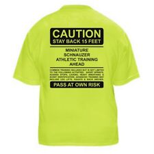MINIATURE SCHNAUZER FUNNY DOG LOVER T-SHIRT - CAUTION - Sizes Small through 5XL