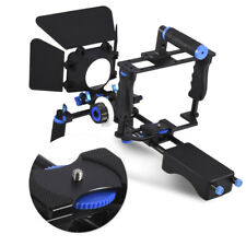 Metal Handle DSLR Rig Stabilizer Video Camera Cage Follow Focus Matte Box Kit CO