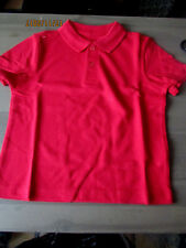 F & F (Tesco)  Boys Red  School Polo Shirt Age 3/4 and 5/6 Years New 26998