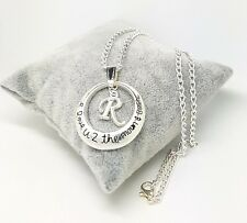 I Love You To The Moon And Back Letter Initial Charm Necklace Free Gift Bag
