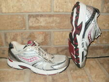 Saucony Grid Cohesion 4 Ladys Size 9 Running Shoe/Silver-Burgundy Nice!