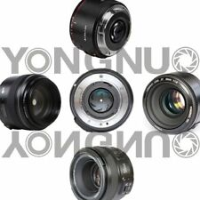 YONGNUO YN 35mm 40mm 50mm 100mm EF AF/MF Prime Fixed Lens FOR Nikon Canon Camera
