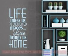 Love Brings Us Home Vinyl Lettering Sticker Family Wall Decals Wall Decor Quotes