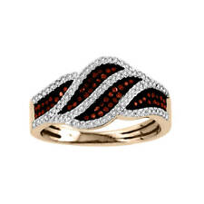 De Couer 10k Rose Gold 1/3ct TDW Cognac and White Diamond Ring
