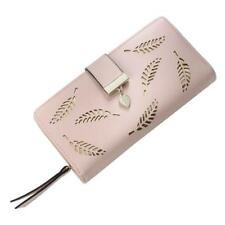 Leather Clutch Lady Wallet Two Fold Hollow Out Trend Design Handy Purse Zipper